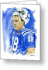 Peyton Manning - Heart Of The Champion Greeting Card
