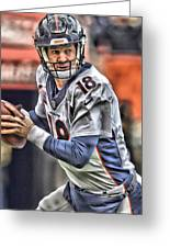 Peyton Manning Art 1 Greeting Card