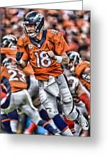 Peyton Manning Art 2 Greeting Card