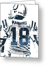 Peyton Manning Indianapolis Colts Pixel Art Greeting Card