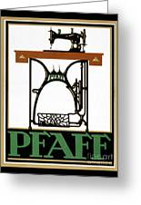 Pfaff Vintage Advertising Poster Restored Greeting Card