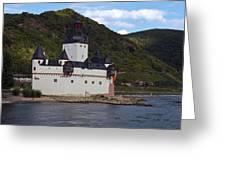 Pfalz Castle Greeting Card