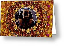 Pharaoh In The Starry Night Greeting Card