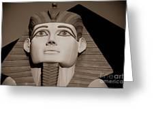 Pharaohs And Pyramids Greeting Card by Charles Dobbs