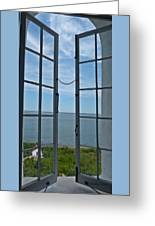 Phare Fenetre Lighthouse Window Greeting Card