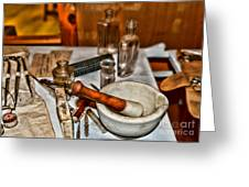 Pharmacist - Mortar And Pestle Greeting Card by Paul Ward