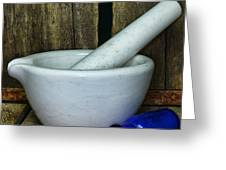 Pharmacy - Mortar And Pestle - Square Greeting Card