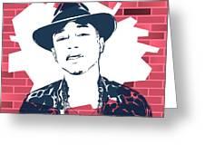 Pharrell Graffiti Tribute Greeting Card