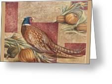 Pheasant I Greeting Card