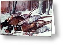 Pheasants Hunt - Sold Greeting Card