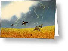 Pheasants On The Rise Greeting Card