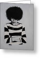 Phil Lynott Portrait Greeting Card