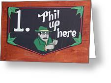 Phil Up Here Greeting Card