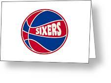 Philadelphia 76ers Retro Shirt Greeting Card