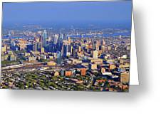 Philadelphia Aerial 0518 Greeting Card by Duncan Pearson