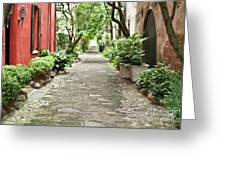 Philadelphia Alley Charleston Pathway Greeting Card