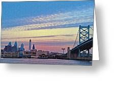 Philadelphia At Dawn Greeting Card by Bill Cannon