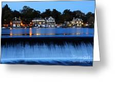 Philadelphia Boathouse Row At Twilight Greeting Card