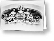 Philadelphia City Hall Fresco Greeting Card