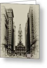 Philadelphia City Hall From South Broad Street Greeting Card