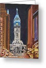 Philadelphia City Hall Greeting Card by Patricia Arroyo