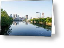 Philadelphia Cityscape Along The Schuylkill River Greeting Card