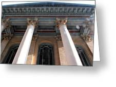 Philadelphia Classical Pillars - Looking Up Greeting Card