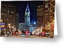 Philadelphia Downtown Greeting Card