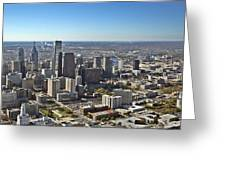 Philadelphia From North To South Greeting Card