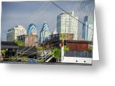 Philadelphia From Penns Landing Greeting Card