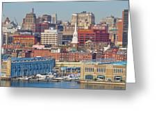 Philadelphia - From The Ben Franklin Bridge Greeting Card