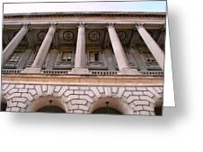 Philadelphia Library Pillars Greeting Card