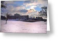 Philadelphia Museum Of Art At Winter Sunrise Greeting Card