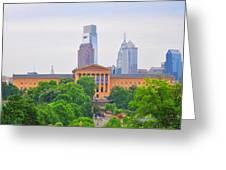 Philadelphia Museum Of Art From Lemon Hill Greeting Card