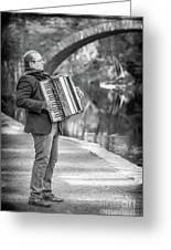 Philadelphia Music Man Bnw Greeting Card