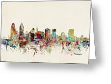 Philadelphia Pennsylvania Skyline Greeting Card