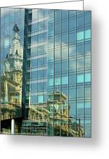 Philadelphia Reflections Greeting Card by Russ Harris