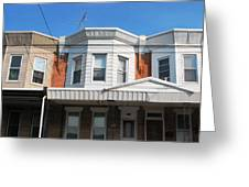 Philadelphia Row Houses Greeting Card