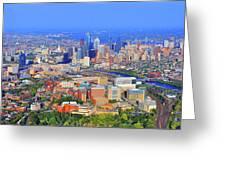 Philadelphia Skyline 3400 Civic Center Blvd Greeting Card