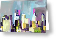 Philadelphia Skyline 650 1 Greeting Card