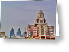 Philadelphia Skyline From Camden Waterfront Greeting Card