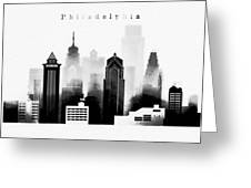 Philadelphia Skyline Graphic Work Greeting Card