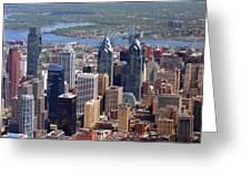 Philadelphia Skyscrapers Greeting Card by Duncan Pearson