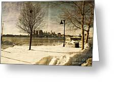Philadelphia Snowscape Greeting Card