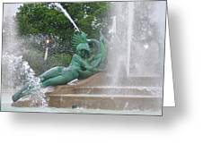 Philadelphia - Swann Memorial Fountain - Logan Square Greeting Card