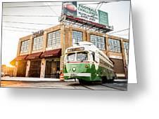 Philadelphia Trolley Greeting Card