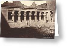 Philae, Cour Int?rieure, Colonnade De L'ouest Greeting Card