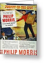 Philip Morris Cigarette Ad Greeting Card