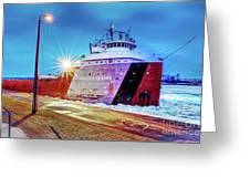 Philip R.clarke West Pier Sault Ste.marie Michigan -3124 Greeting Card