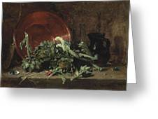 Philippe Rousseau Still Life With Artichokes, 1868 Greeting Card